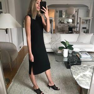 Black Midi Shift Dress
